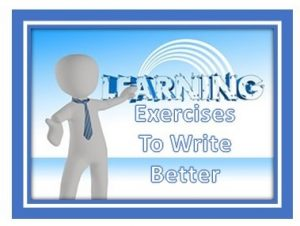 exercise to write better